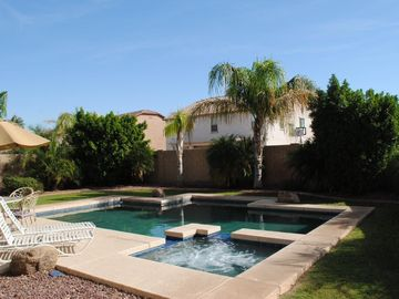 Phoenix house rental - Amazing Backyard w/ private Pool and Spa for family and friends entertainment