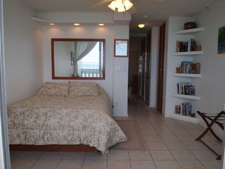 Makaha condo photo - bedroom with Queen bed overlooking Turtle Beach