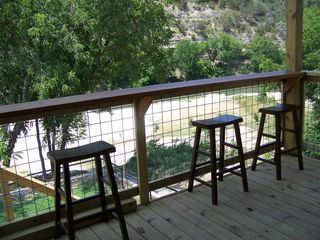 New Braunfels condo photo - deck overlooking river