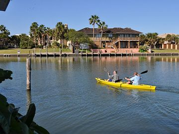 Kayaking at back of house