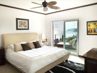 Jaco condo photo - Master bedroom with ocean view and terrace