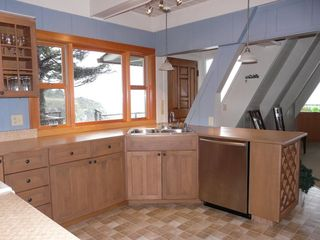 Mendocino house photo - Ocean view, well equipped kitchen