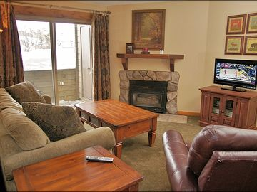 Steamboat Springs condo rental - Comfortable Living Room with Queen pull out couch.
