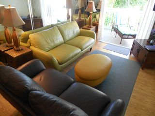 Key West condo photo - The living room complete with Italian Leather couches.