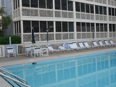 Windy Hill condo rental - Have a pool day or just watch from the condo porch!