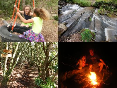 Swing like a kid again, explore the trails and creek or gather round the fire.
