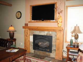 Sunriver house photo - Gas Fireplace and Flatscreen TV