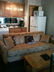 Bartlett condo photo - Kitchenette and convertible sofa