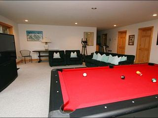 Stowe house photo - Game Room Includes a Pool Table, 60-Inch TV, and Ping Pong Table