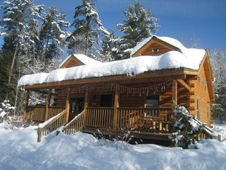 Cozy log cabin in the white mountains on the wild ammonoosuc river 3 br vacation cabin for rent - Small log houses dream vacations wild ...
