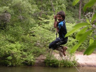 Helen cabin photo - Have some Old fashioned fun: Rope swing, tubing, slides, kayaking great fishing
