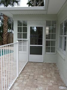 Your private porch entry