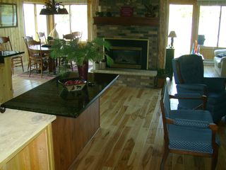 Walker cabin photo - View from the front entry into the cabin. There are new chairs and couches.