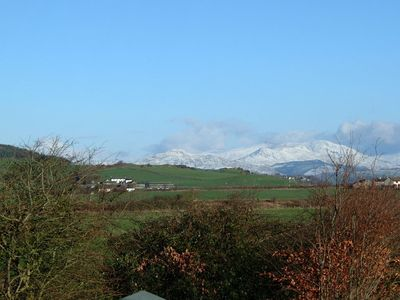 Millom cottage rental - Winter view from the bathroom of the Lakeland Fell