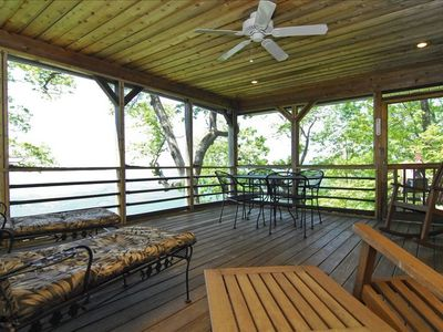 Brevard house rental - Top floor deck with incredible view
