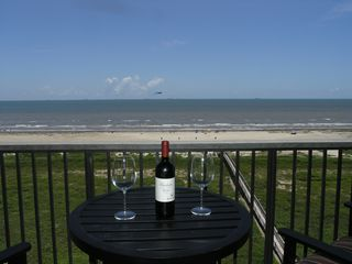 Galveston condo photo - It doesn't get any better than this. Have a glass of wine and relax.