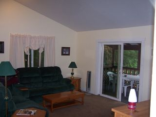 Lake Bomoseen house photo - Enjoy the living room with several movies to watch, or play games.