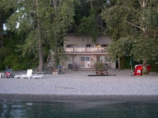 Polson cabin rental - Looking from beach to cabin