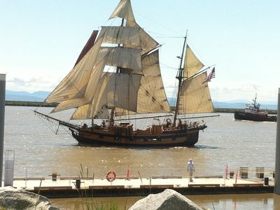 The Tall Ships come in to Steveston in the Summer