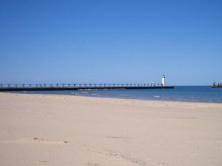 Manistee condo photo - Just Minutes to Lake Michigan Beach & Manistee North Pierhead Lighthouse