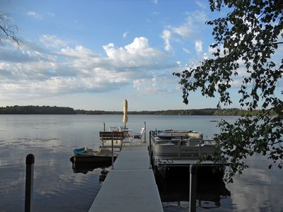 Lounge on the dock or our pontoon is also available for rent.