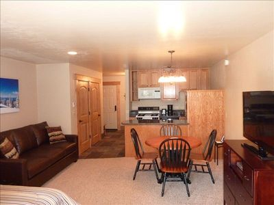 Renovated and updated with new lighting, flooring and furniture.