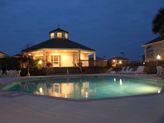 Fort Morgan house photo - Clubhouse and pool at night