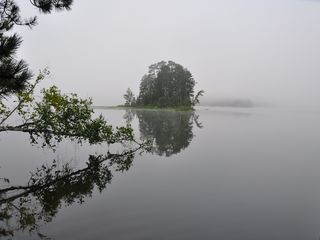 Fifty Lakes cabin photo - Misty Morning in August.
