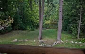 View of pond from back porch