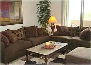 "Comfortable, Stylish & Sunny Family Room w/ 50"" Big Screen TV, Fireplace & Patio"