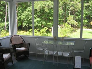 Cape Neddick house photo - Screen Porch / Rose garden