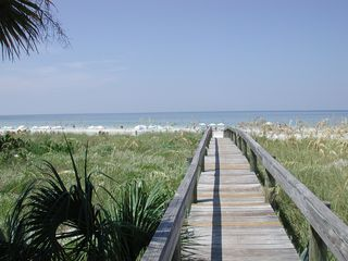 Private Walkway to #1 beach in the USA - Siesta Key condo vacation rental photo