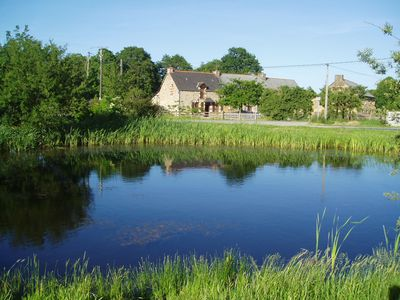 Self catering Longere in serene setting by small fishing lake