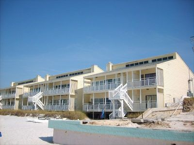 View of condo from beach.
