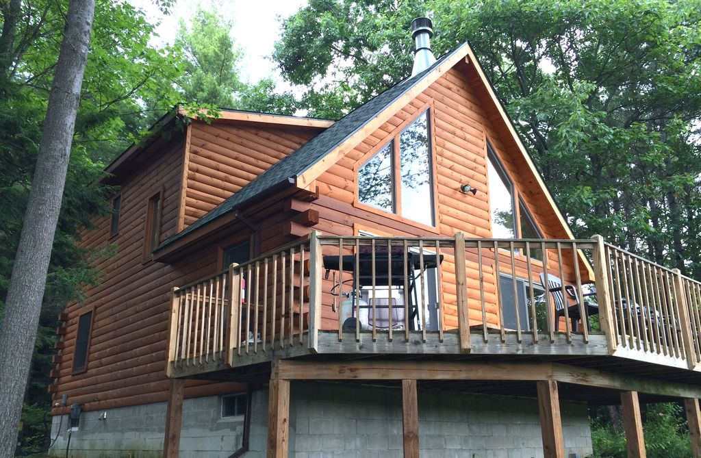 Luxury Log Cabin At Schroon Lake Homeaway Schroon Lake