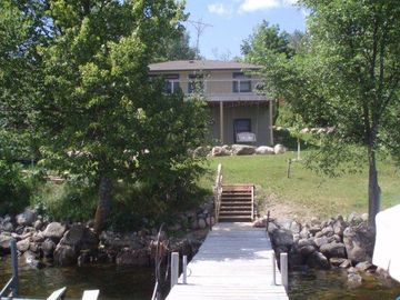 Lake Vermilion cabin rental - This a view of the cabin from your own private dock.