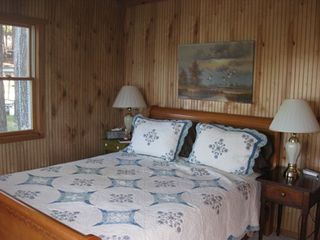 New Milford cottage photo - Master Bedroom with Memory Foam Queen Bed and bath.