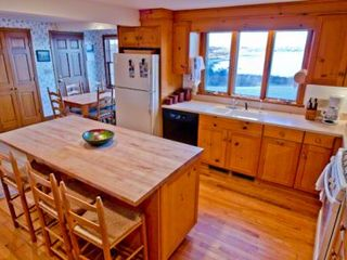 Chilmark house photo - The Open Kitchen Features Breakfast Bar/Prep Island & Butcher Block Counters