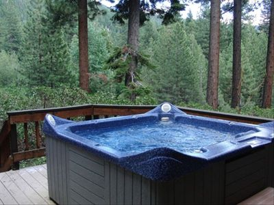 Hot Tub on Kitchen Deck - Seats 5