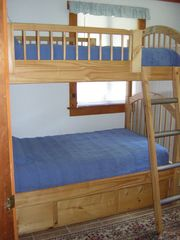Charlestown house photo - Bedroom #3-twin bunk beds w chest and closet