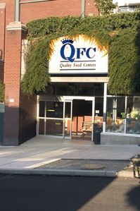 The side entrance to QFC, on Harvard.