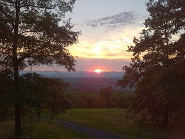Woodstock house rental - Sunset over the valley - view from deck, living room, and master bed