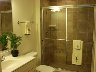Belmont Towers Ocean City condo photo - Hall Bathroom Ceramic Shower