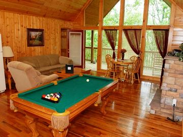 Pigeon Forge cabin rental - Shoot a game of pool after a long day