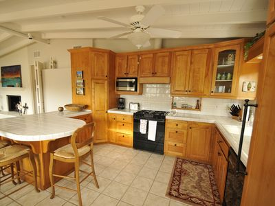 Top of the line appliances with dishwasher and Sub Zero refrigerator/freezer.