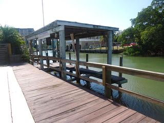 Fort Myers Beach cottage photo - Boat slip with lift