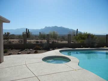 Tucson house rental - View to the East From Patio