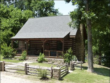 Mountain View cabin rental - Beautiful Virginia Log Cabin on the White River in Allison, Ar.