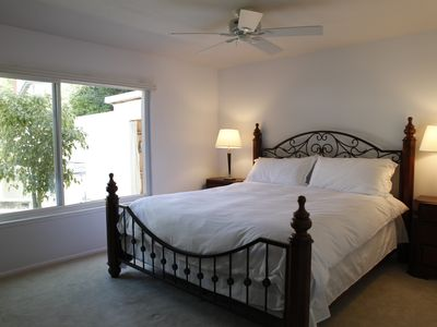 King Size Bed in Master Bedroom with Garden View