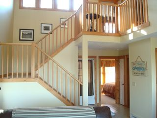 Tannersville townhome photo - Entrance, hallway and stairs
